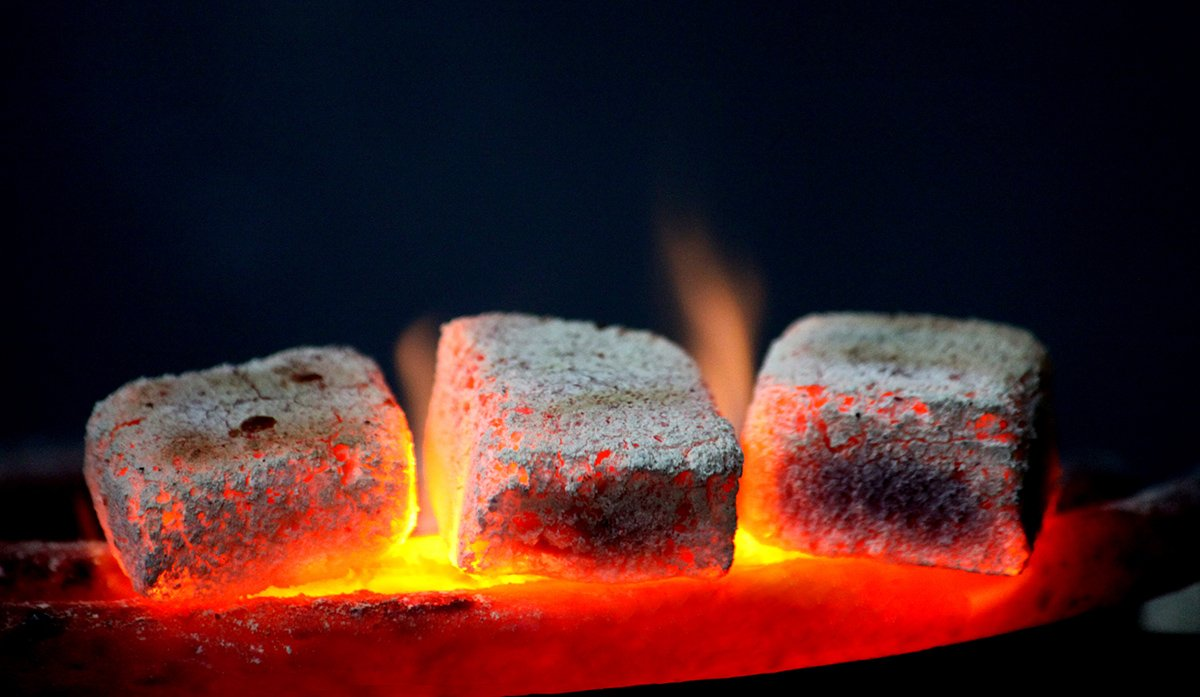 traditional hookah hot coals for shisha