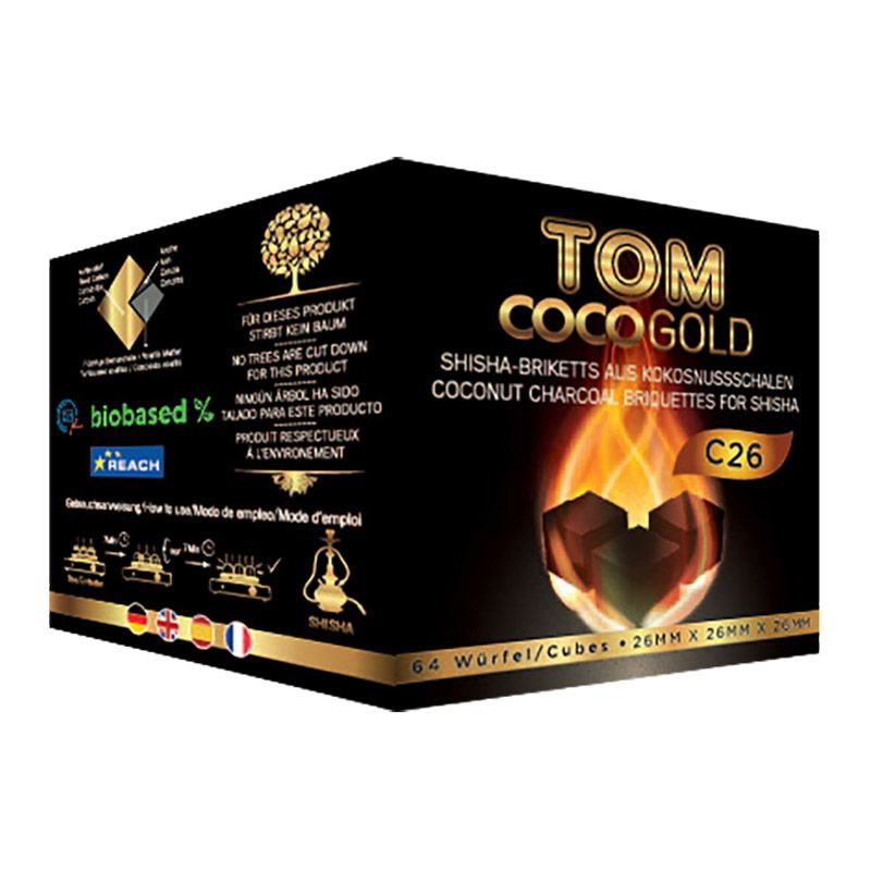 Tom Coco gold c26 charcoal shisha